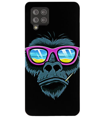 ADEL Siliconen Back Cover Softcase Hoesje voor Samsung Galaxy A42 - Gorilla Apen