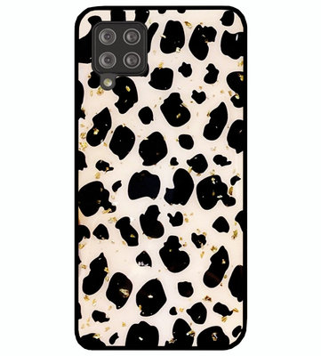 ADEL Siliconen Back Cover Softcase Hoesje voor Samsung Galaxy A42 - Luipaard Bling Glitter