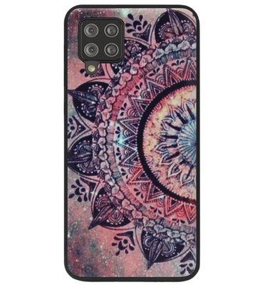 ADEL Siliconen Back Cover Softcase Hoesje voor Samsung Galaxy A42 - Mandala Bloemen Rood
