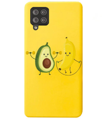 ADEL Siliconen Back Cover Softcase Hoesje voor Samsung Galaxy A42 - Fruit