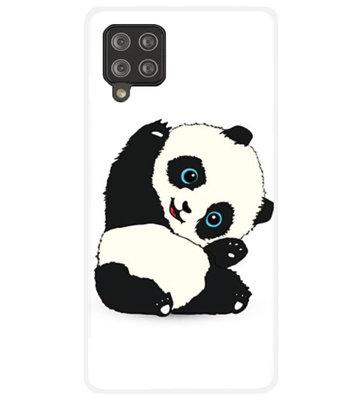 ADEL Siliconen Back Cover Softcase Hoesje voor Samsung Galaxy A42 - Panda
