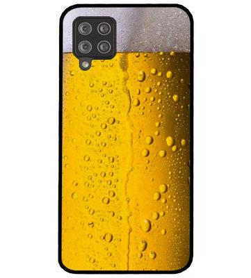 ADEL Siliconen Back Cover Softcase Hoesje voor Samsung Galaxy A42 - Pils Bier