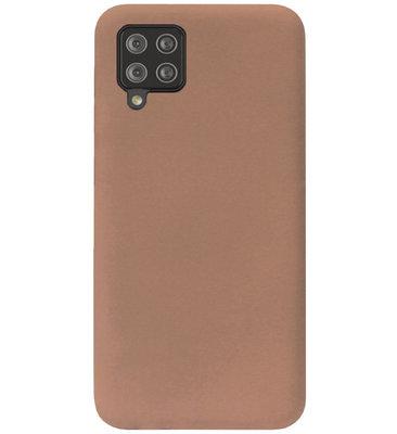 ADEL Siliconen Back Cover Softcase Hoesje voor Samsung Galaxy A42 - Bruin