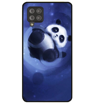 ADEL Siliconen Back Cover Softcase Hoesje voor Samsung Galaxy A42 - Panda Liggend