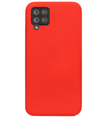 ADEL Siliconen Back Cover Softcase Hoesje voor Samsung Galaxy A42 - Rood