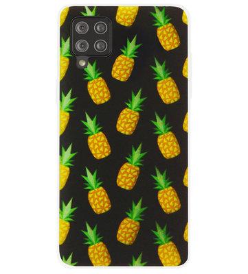 ADEL Siliconen Back Cover Softcase Hoesje voor Samsung Galaxy A42 - Ananas