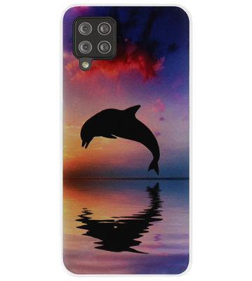 ADEL Kunststof Back Cover Hardcase Hoesje voor Samsung Galaxy A42 - Dolfijn