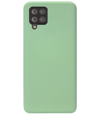 ADEL Premium Siliconen Back Cover Softcase Hoesje voor Samsung Galaxy A42 - Lichtgroen