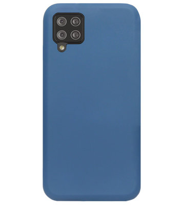 ADEL Premium Siliconen Back Cover Softcase Hoesje voor Samsung Galaxy A42 - Blauw