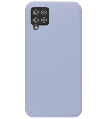ADEL Premium Siliconen Back Cover Softcase Hoesje voor Samsung Galaxy A42 - Lavendel Grijs