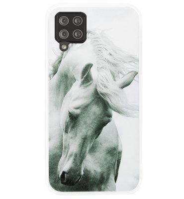 ADEL Siliconen Back Cover Softcase Hoesje voor Samsung Galaxy A42 - Paarden