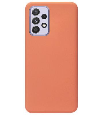 ADEL Premium Siliconen Back Cover Softcase Hoesje voor Samsung Galaxy A72 - Oranje