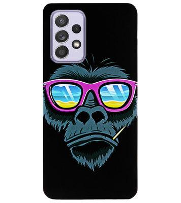ADEL Siliconen Back Cover Softcase Hoesje voor Samsung Galaxy A72 - Gorilla Apen