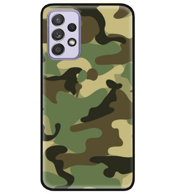 ADEL Siliconen Back Cover Softcase Hoesje voor Samsung Galaxy A72 - Camouflage