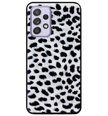 ADEL Siliconen Back Cover Softcase Hoesje voor Samsung Galaxy A72 - Luipaard Wit