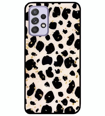 ADEL Siliconen Back Cover Softcase Hoesje voor Samsung Galaxy A72 - Luipaard Bling Glitter