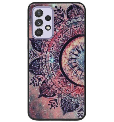 ADEL Siliconen Back Cover Softcase Hoesje voor Samsung Galaxy A72 - Mandala Bloemen Rood