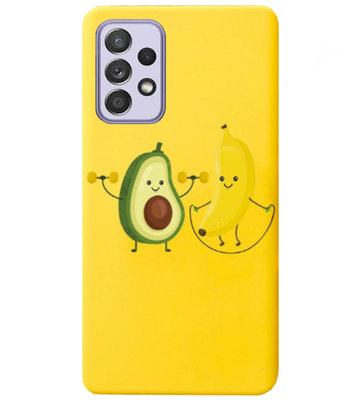 ADEL Siliconen Back Cover Softcase Hoesje voor Samsung Galaxy A72 - Fruit