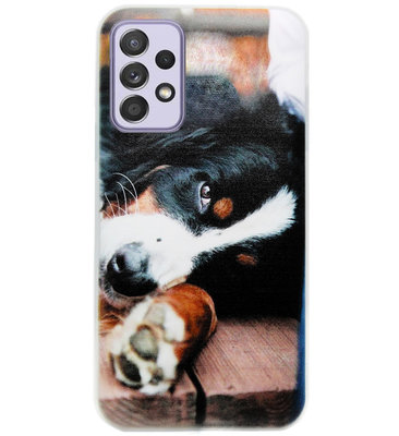 ADEL Siliconen Back Cover Softcase Hoesje voor Samsung Galaxy A72 - Berner Sennenhond