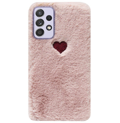 ADEL Siliconen Back Cover Softcase Hoesje voor Samsung Galaxy A72 - Hartjes Roze
