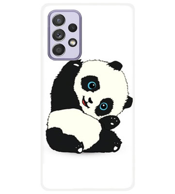 ADEL Siliconen Back Cover Softcase Hoesje voor Samsung Galaxy A72 - Panda