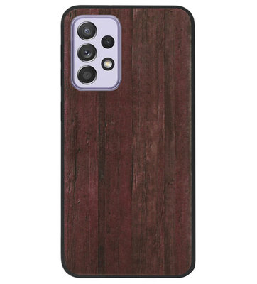 ADEL Siliconen Back Cover Softcase Hoesje voor Samsung Galaxy A72 - Hout Design Bruin