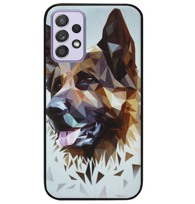 ADEL Siliconen Back Cover Softcase Hoesje voor Samsung Galaxy A72 - Duitse Herder Hond