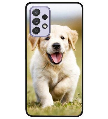 ADEL Siliconen Back Cover Softcase Hoesje voor Samsung Galaxy A72 - Labrador Retriever Hond