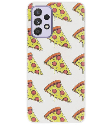 ADEL Siliconen Back Cover Softcase Hoesje voor Samsung Galaxy A72 - Junkfood Pizza