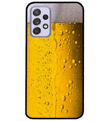 ADEL Siliconen Back Cover Softcase Hoesje voor Samsung Galaxy A72 - Pils Bier