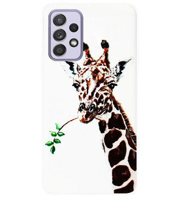ADEL Siliconen Back Cover Softcase Hoesje voor Samsung Galaxy A72 - Giraf