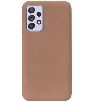 ADEL Siliconen Back Cover Softcase Hoesje voor Samsung Galaxy A72 - Bruin