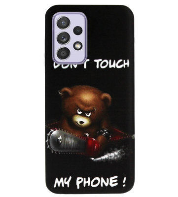 ADEL Siliconen Back Cover Softcase Hoesje voor Samsung Galaxy A72 - Don't Touch My Phone Beren