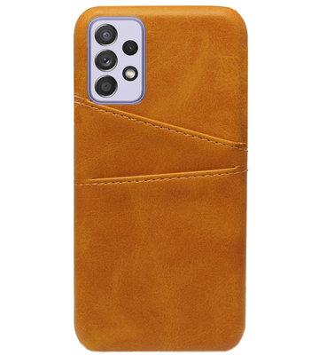 ADEL Kunstleren Back Cover Pasjes Hoesje voor Samsung Galaxy A72 - Bruin