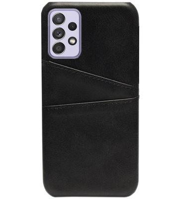 ADEL Kunstleren Back Cover Pasjes Hoesje voor Samsung Galaxy A72 - Zwart