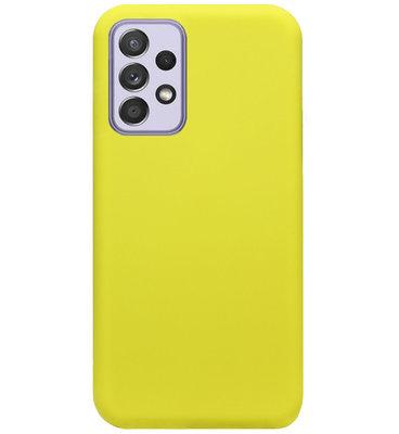 ADEL Premium Siliconen Back Cover Softcase Hoesje voor Samsung Galaxy A72 - Geel