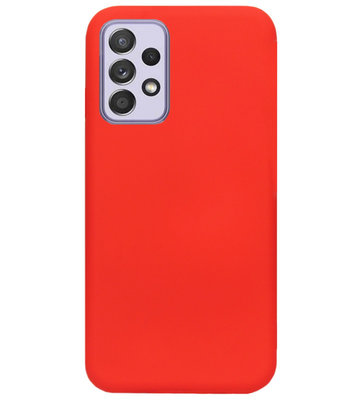 ADEL Siliconen Back Cover Softcase Hoesje voor Samsung Galaxy A72 - Rood