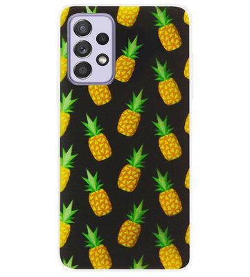 ADEL Siliconen Back Cover Softcase Hoesje voor Samsung Galaxy A72 - Ananas