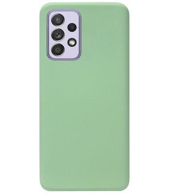 ADEL Premium Siliconen Back Cover Softcase Hoesje voor Samsung Galaxy A72 - Lichtgroen