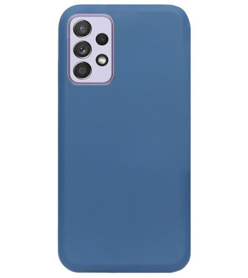 ADEL Premium Siliconen Back Cover Softcase Hoesje voor Samsung Galaxy A72 - Blauw
