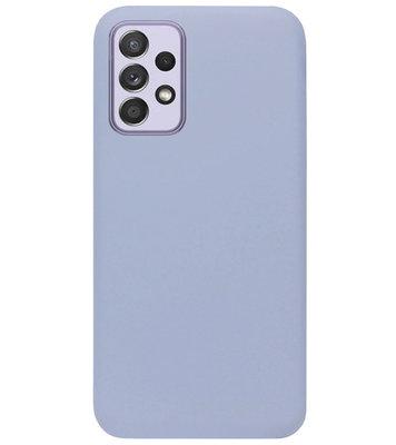 ADEL Premium Siliconen Back Cover Softcase Hoesje voor Samsung Galaxy A72 - Lavendel Grijs