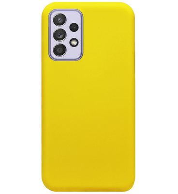 ADEL Siliconen Back Cover Softcase Hoesje voor Samsung Galaxy A72 - Geel