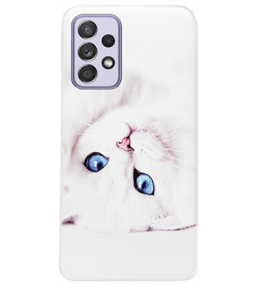 ADEL Siliconen Back Cover Softcase Hoesje voor Samsung Galaxy A72 - Katten