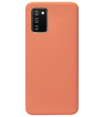 ADEL Premium Siliconen Back Cover Softcase Hoesje voor Samsung Galaxy A02s - Oranje