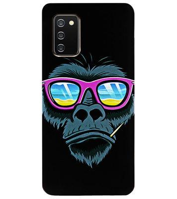 ADEL Siliconen Back Cover Softcase Hoesje voor Samsung Galaxy A02s - Gorilla Apen