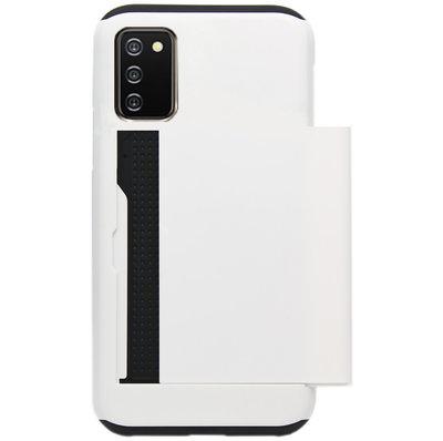 ADEL Kunststof Back Cover Hardcase Hoesje voor Samsung Galaxy A02s - Pasjeshouder Wit