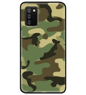 ADEL Siliconen Back Cover Softcase Hoesje voor Samsung Galaxy A02s - Camouflage
