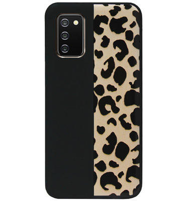 ADEL Siliconen Back Cover Softcase Hoesje voor Samsung Galaxy A02s - Luipaard Bruin