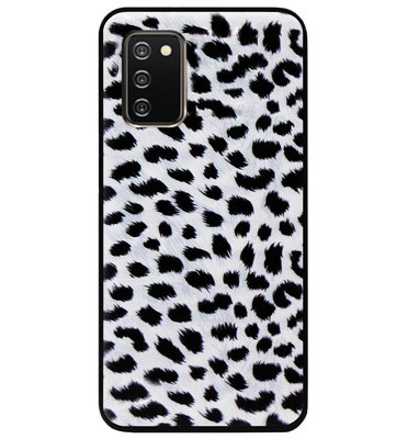 ADEL Siliconen Back Cover Softcase Hoesje voor Samsung Galaxy A02s - Luipaard Wit