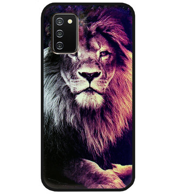 ADEL Siliconen Back Cover Softcase Hoesje voor Samsung Galaxy A02s - Leeuw